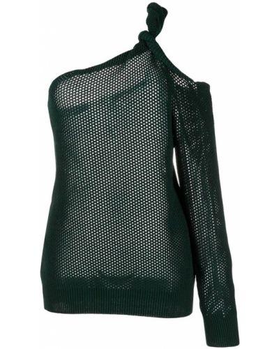 Zielony sweter bez rękawów Givenchy