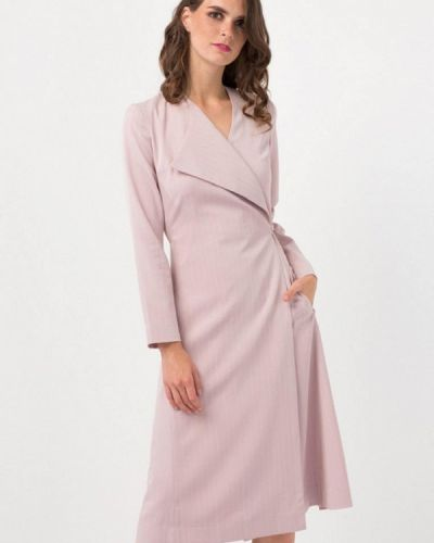 Розовое платье с запахом Nai Lu-na By Anastasia Ivanova
