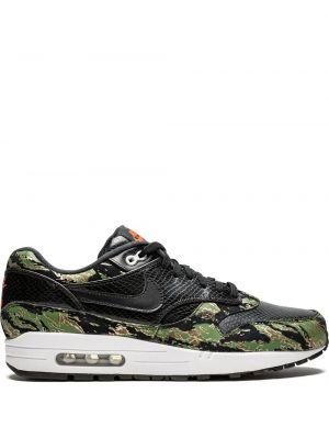 Нейлоновые черные кроссовки на каблуке с заплатками Nike