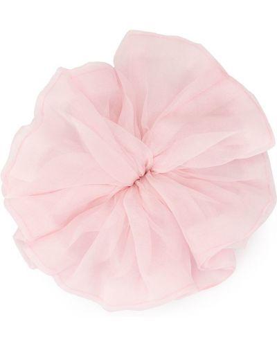 Шелковая розовая резинка для волос на резинке с оборками Le Chic Radical