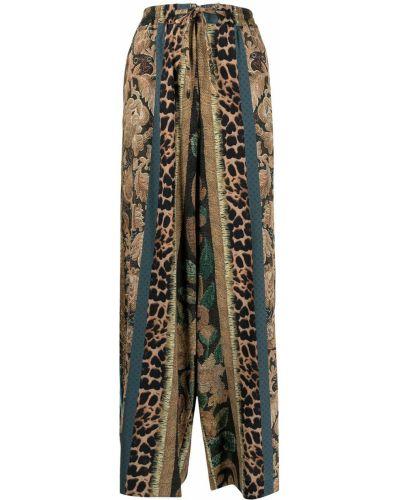 Коричневые брюки свободного кроя Pierre-louis Mascia