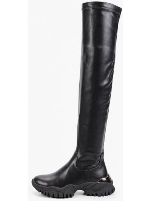 Кожаные ботфорты - черные Diora.rim