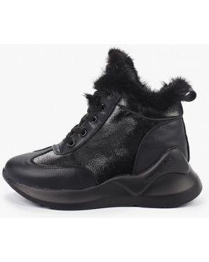Высокие кроссовки черные Mallanee
