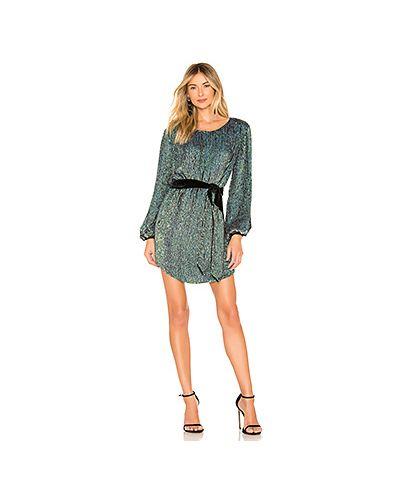 Платье с поясом бирюзовый винтажная Retrofete