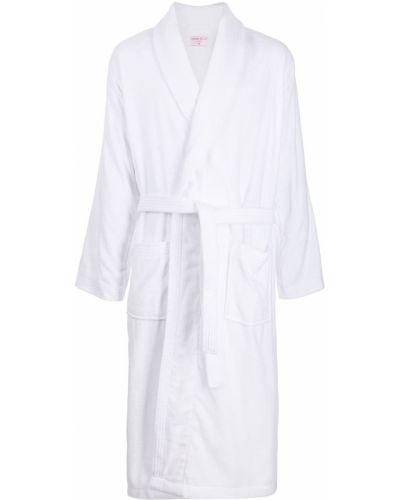 Biały długi szlafrok bawełniany Derek Rose