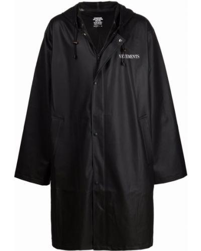 Płaszcz przeciwdeszczowy - czarny Vetements