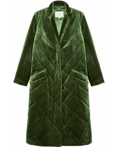 Стеганое пальто - зеленое Akhmadullina Dreams