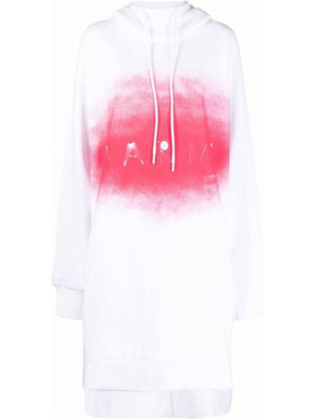 Платье макси длинное - белое Marni
