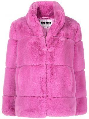 Różowy płaszcz pikowany Apparis