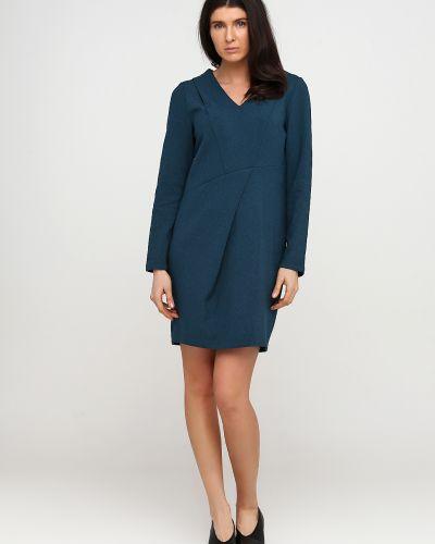 Зеленое платье макси из плотной ткани Kookai