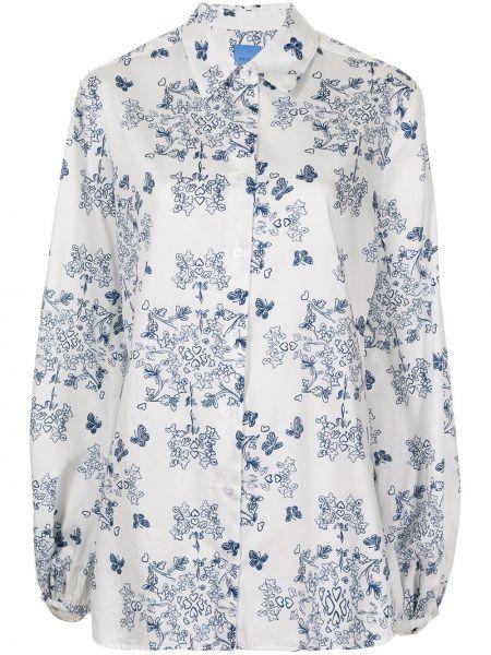 Блузка с принтом - синяя Macgraw