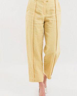 Желтые расклешенные брюки Maxa