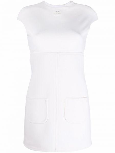 Платье мини с открытой спиной - белое Courrèges