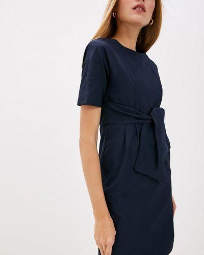 Повседневное платье осеннее синее Weekend Max Mara