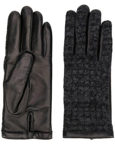 Кожаные перчатки черные Agnelle