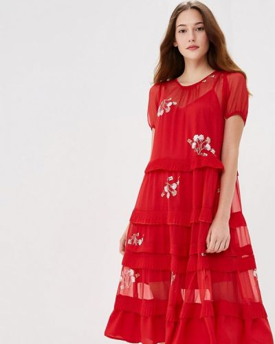 Красное коктейльное платье Lost Ink.