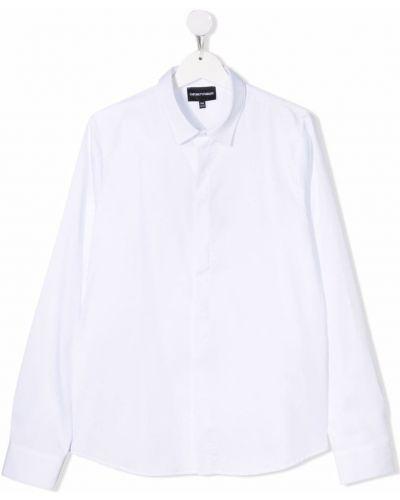 Biała koszula zapinane na guziki Emporio Armani Kids