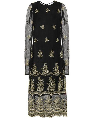 Платье миди с вышивкой сетчатое Chloé