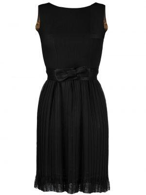 Шерстяное черное ажурное платье без рукавов Dolce & Gabbana Pre-owned