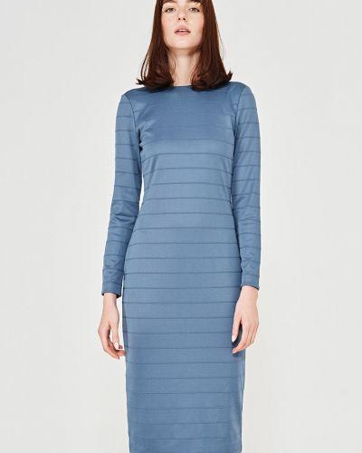 Платье мини с длинными рукавами с поясом Simple