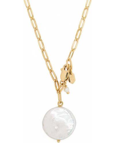 Złoty naszyjnik perły pozłacany Maria Black