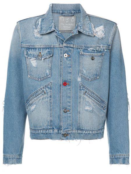 Klasyczne niebieskie jeansy bawełniane Mjb Marc Jacques Burton