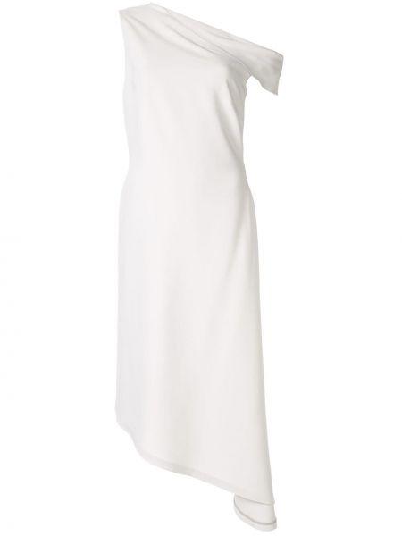 Платье миди серое с открытыми плечами Rosetta Getty