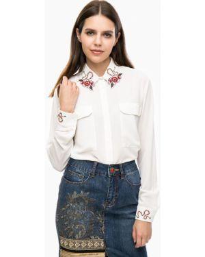 Блузка с вышивкой белая Desigual
