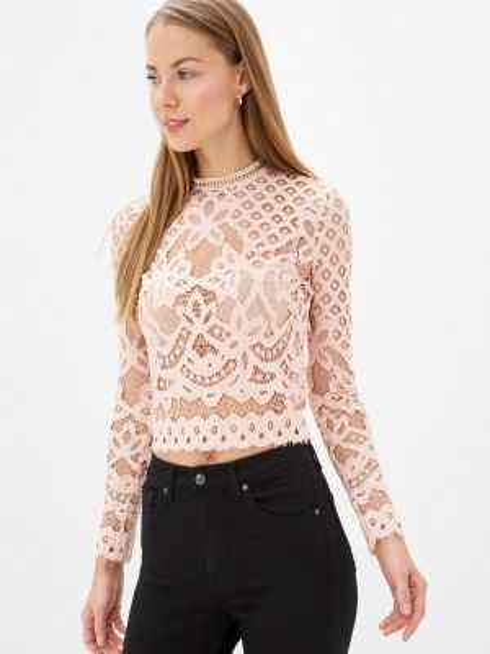 Розовая блузка с поясом With&out
