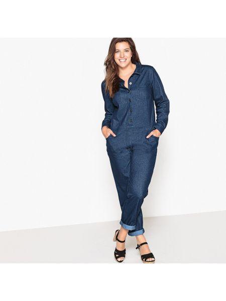 Синий джинсовый комбинезон Castaluna