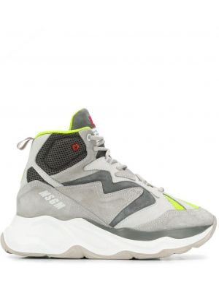 Sneakersy białe z logo Msgm