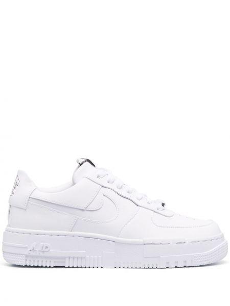 Ażurowy biały top na sznurowadłach okrągły Nike