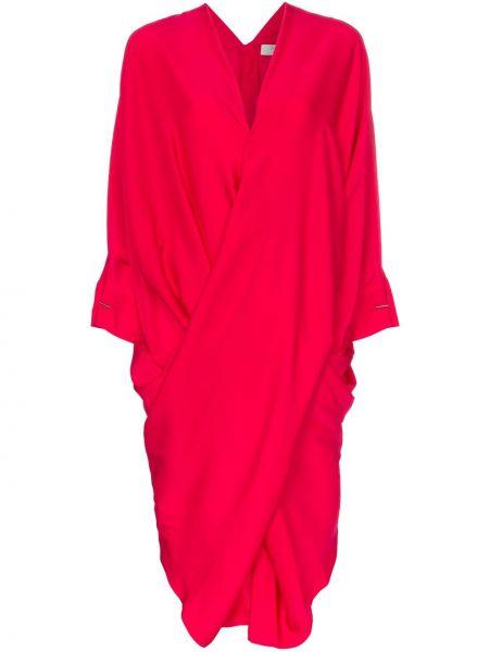 Приталенное платье миди с запахом с V-образным вырезом с драпировкой Poiret