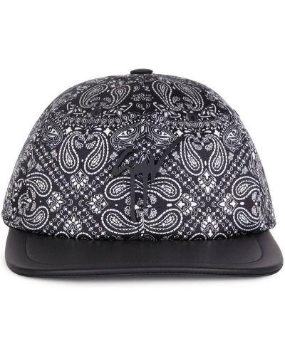 Czarny baseball skórzany czapka baseballowa Giuseppe Zanotti