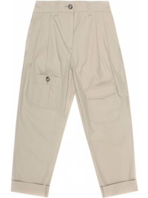 Spodnie khaki bawełniane Dolce & Gabbana Kids