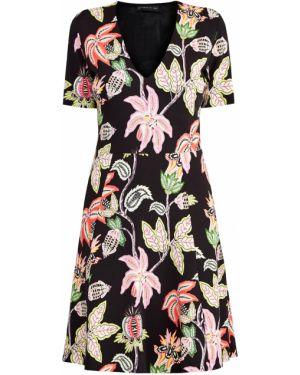 Платье мини с цветочным принтом с V-образным вырезом Etro