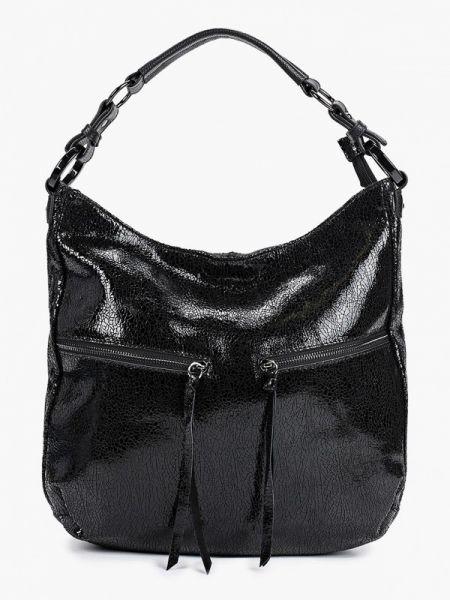 Черная кожаная сумка из натуральной кожи Valensiy