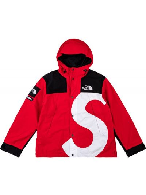 Długa kurtka z kapturem z długimi rękawami z printem Supreme