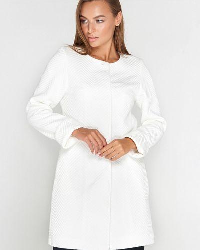Белое пальто с капюшоном Sellin
