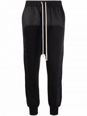 Хлопковые спортивные брюки - черные Rick Owens Drkshdw