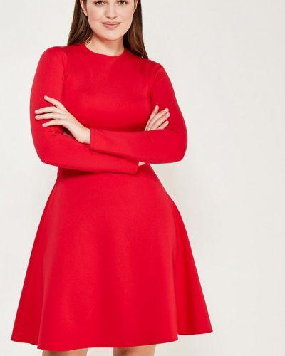 Платье красный осеннее Chic