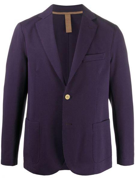 Сиреневый классический пиджак с лацканами Eleventy