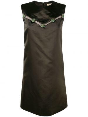 Шелковое платье винтажное без рукавов с вырезом Christian Dior