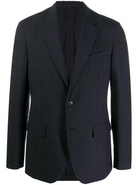 Шерстяной однобортный пиджак на пуговицах с карманами Versace