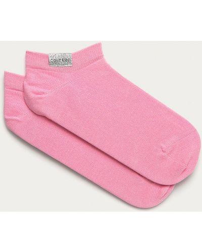 Różowe skarpety bawełniane Calvin Klein
