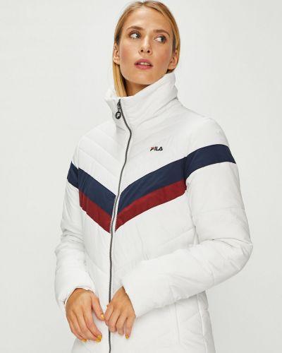 Утепленная куртка с карманами белая Fila