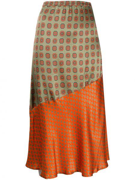 Прямая зеленая юбка с поясом Cecilie Copenhagen