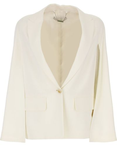 Biały z rękawami kurtka z klapami z kieszeniami Givenchy