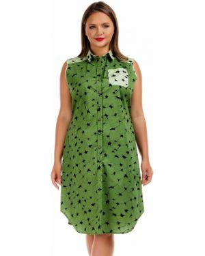 Летнее платье на пуговицах платье-рубашка Liza Fashion