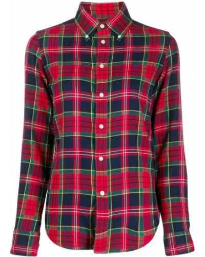 Рубашка с длинным рукавом в клетку в полоску Polo Ralph Lauren